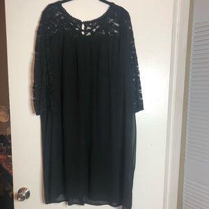 Black Lace top Chiffon dress